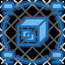 Blockchain Big Data Application Icon