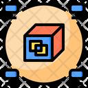 Blockchain Big Data Online Icon