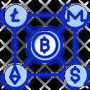 Blockchain Blockchain Transaction Cryptocurrency Icon