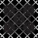 Blockchain Users Bitcoin Icon