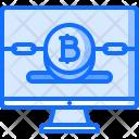 Computer Blockchain Monitor Icon