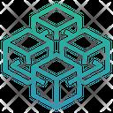 Blockchain Bitcoin Cryptocurrency Icon