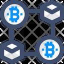 Blockchain Bitcoin Chain Bitcoin Connection Icon