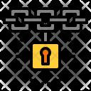 Blockchain Lock Secure Icon
