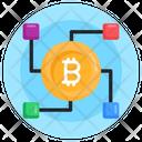 Bitcoin Network Digital Currency Blockchain Icon