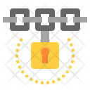 Blockchain Lock Secure Icon