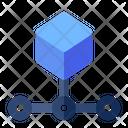 Blockchain Block Data Icon