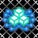 Blockchain Blocks Privacy Icon