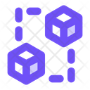 Blockchain Cryptocurrency Smart Contract Icon