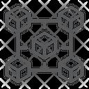 Blockchain Chain Cube Icon