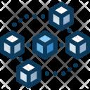 Blockchain Cryptocurrency Bitcoin Icon