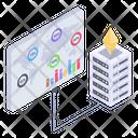 Crypto Analytics Blockchain Analytics Bitcoin Statistics Icon