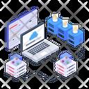Cloud Technology Blockchain Cloud Computing Ltc Technology Icon