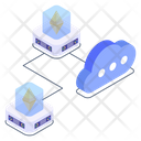 Blockchain Storage Blockchain Cloud Bitcoin Cloud Icon