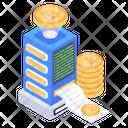 Bitcoin Bill Bitcoin Invoice Blockchain Invoice Icon
