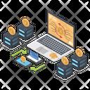 Blockchain Network Secure Bitcoin Network Blockchain Icon