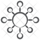 Centralized Network Affiliate Network Blockchain Network Icon