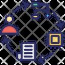 Blockchain Network Consensus Algorithm Cryptocurrency Icon