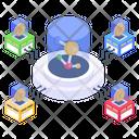 Bitcoin Network Blockchain Network Blockchain Technology Icon