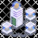 Btc Network Blockchain Network Distributed Network Icon