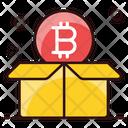 Blockchain Reward Bitcoin Box Bitcoin Package Icon