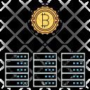 Blockchain servers Icon