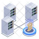 Btc Tech Crypto Technology Blockchain Technology Icon