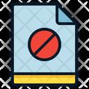 File Blocked Denied Icon