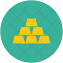 Blocks Cubes Gold Icon