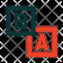 Blocks A B Icon