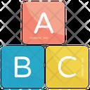 Abc Alphabet Blocks Icon