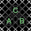 Blocks Alphabet Icon