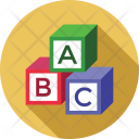 Blocks Alphabets English Icon