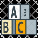 Learning Blocks Alphabet Icon