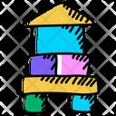 Building Blocks Blocks For Kids Kids Blocks Icon