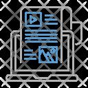 Blog Optimization Seo Icon