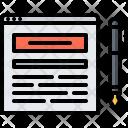 Post Pen Text Icon