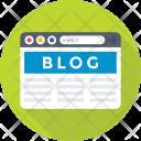 Blog Content Blogging Icon