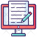 Blog Web Content Article Icon