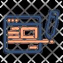 Blog Writing Blogging Icon