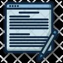 Blog Write Internet Icon