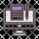 Blog Computer Pen Icon