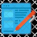 Blog Website Advertising Icon