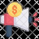 Internet Marketing Budget Promotion Money Icon