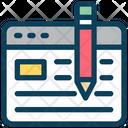 Blog Write Content Icon