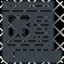 Blog Website Content Icon