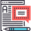 Blog Article Text Icon
