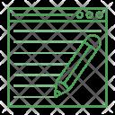 Create Write Webpage Icon
