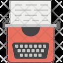 Blog In Typewriter Icon