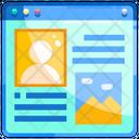 Blog layout Icon